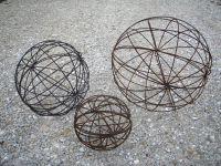 Wrought Iron Garden Art Balls - Spheres in Many Sizes ...