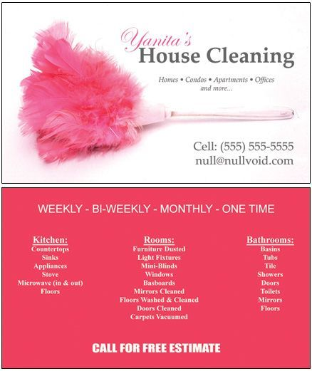 Samples Of Cleaning Business Cards Business Cards Custom
