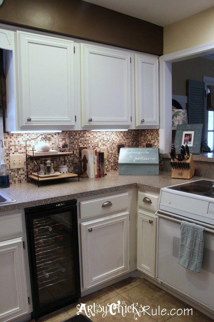 Kitchen Cabinet Makeover Annie Sloan Chalk Paint  Chalk