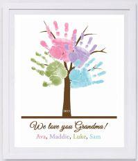 Family Tree Handprint Wall Art 801_pap by MyForeverPrints ...