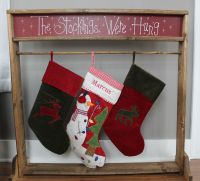 A wooden Christmas Stocking Stand. A great alternative to ...