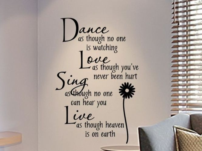 Wall Decals For S Bedroom Decal Dance As Though No One Is Watching