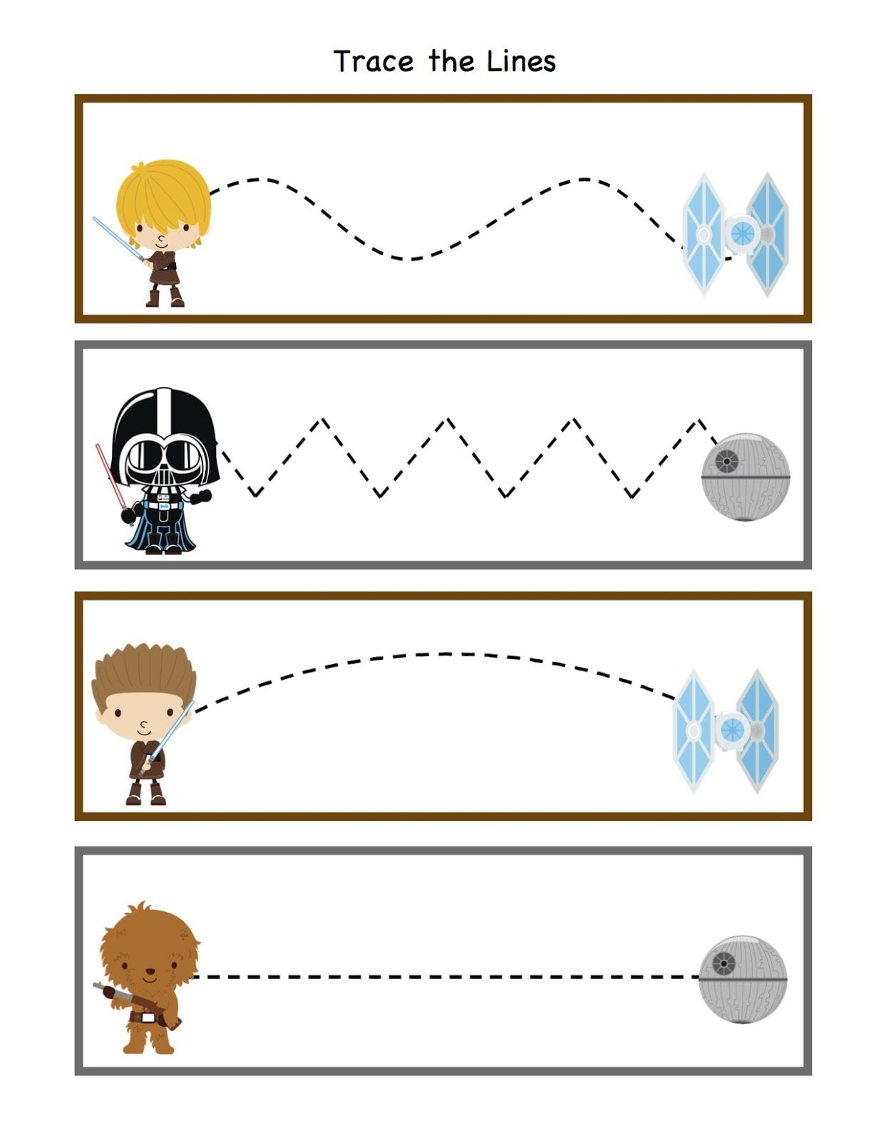 Preschool Printables Star Wars Pattern Cards Printable