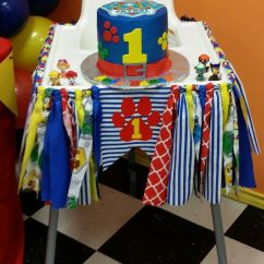First High Chair Invented Leather Images I Made The Banner As Well That Goes Around His