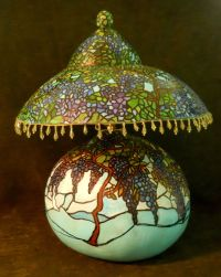 gourd lamp. Shade and base made from gourds. Works too ...