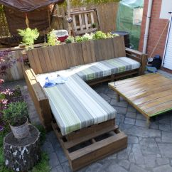 Diy Pallet Sofa Table Instructions Beds Perth Cheap Complete Made Out Of 9 Recycled Pallets