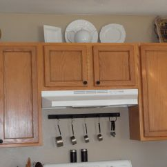 Kitchen Cupboard Handles Best Designs We Did A Pinstripe Stain On Our Doors