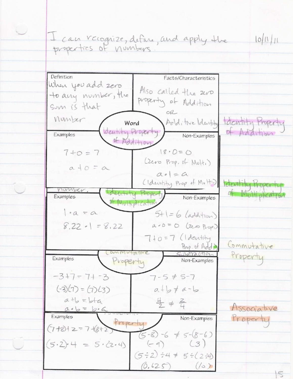 Grade 8 Math Interactive Notebook