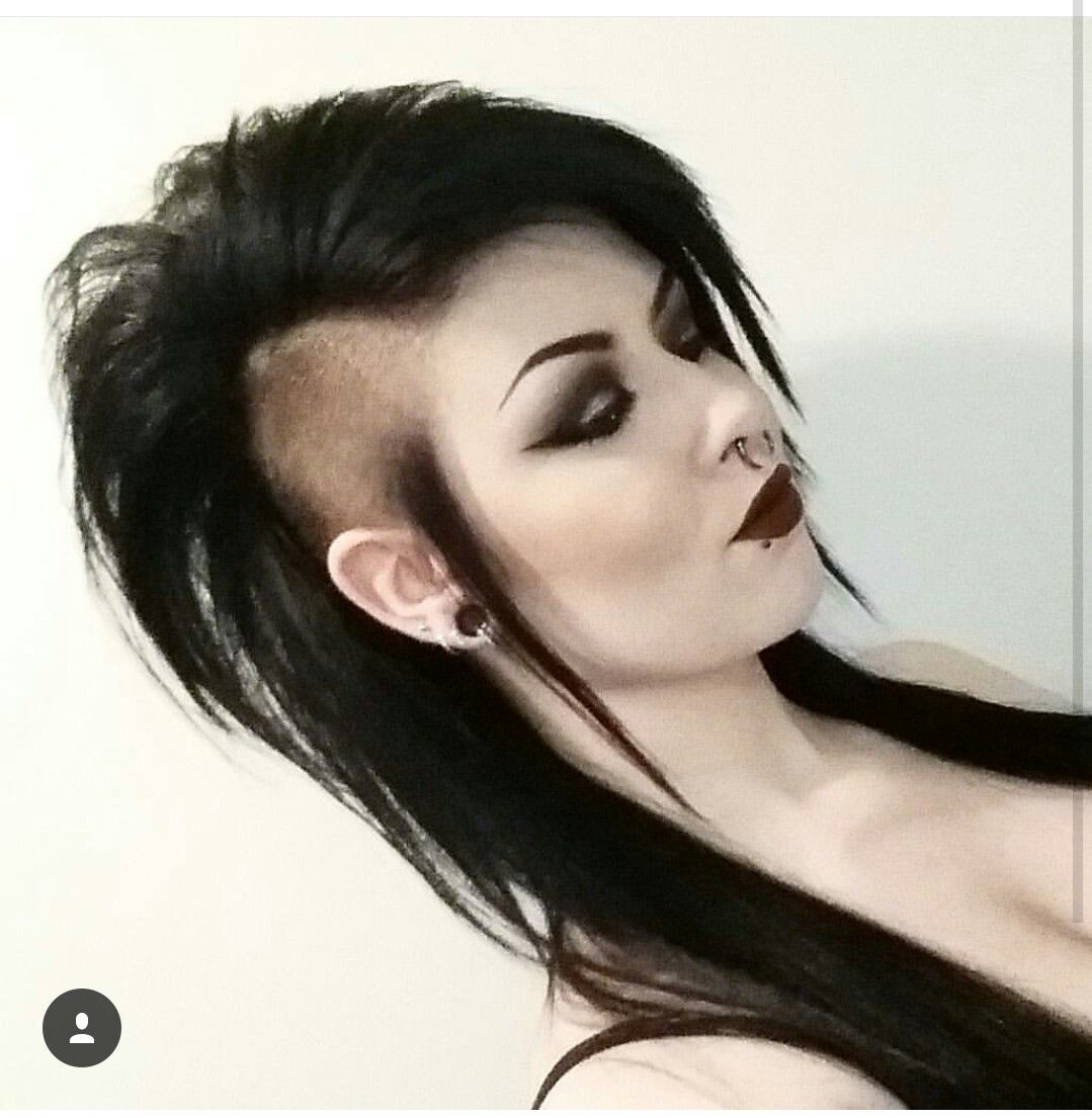 Long Hair Shaved Sides Long Mohawk Gothic Punk Hairstyles Hairz