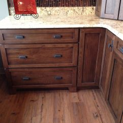 Hickory Shaker Style Kitchen Cabinets Table With Bench Set Dark For Bathroom