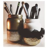 Diy makeup brush holder | Makeup Organization & Vanities ...