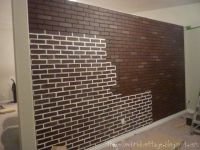 poured basement painted to look like brick | ... how I ...