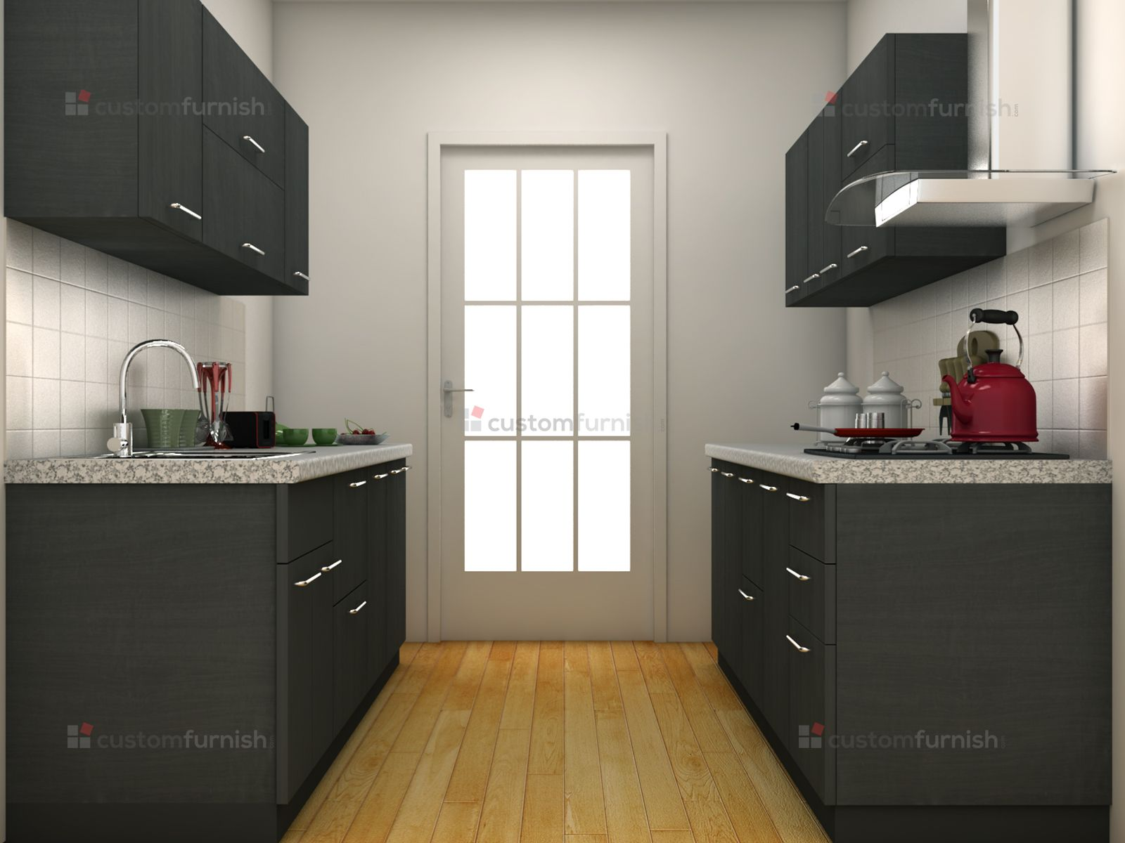 7 Best Images About Parallel Shaped Modular Kitchen Designs On