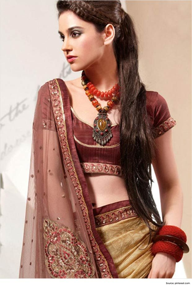 Top 12 Sexy Hairstyles  for Sarees  Saree  Hairstyles