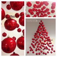 Suspended Christmas Tree decoration for Hair Salon Shop ...