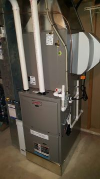 Lennox ML193 high efficiency furnace, cased evaporator ...