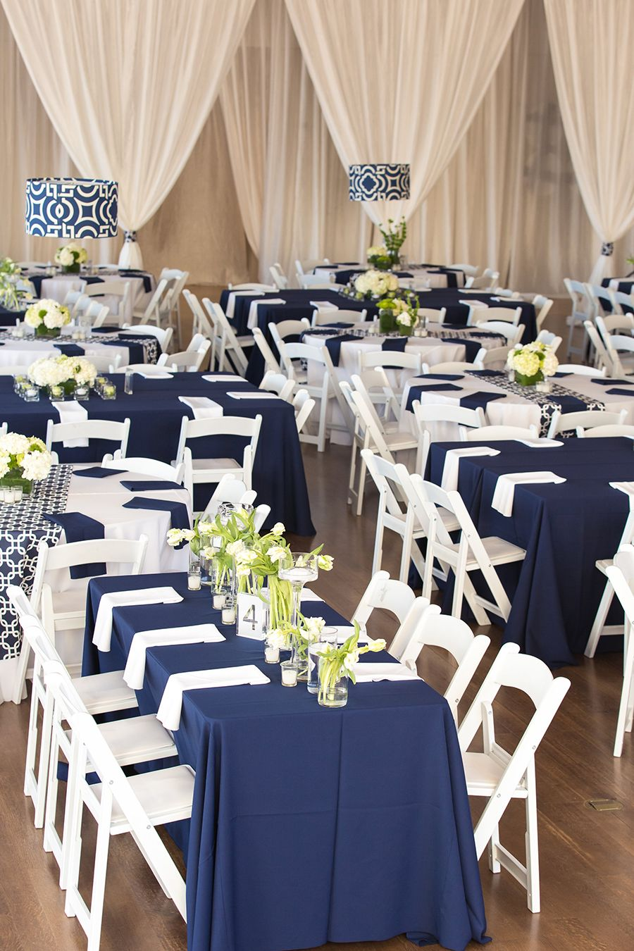 Modern Museum Wedding In Navy and White  Classic wedding decor Classic weddings and Navy