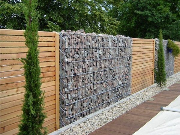 Gabion Wall Design Ideas Garden Fence Ideas Privacy Fence Design