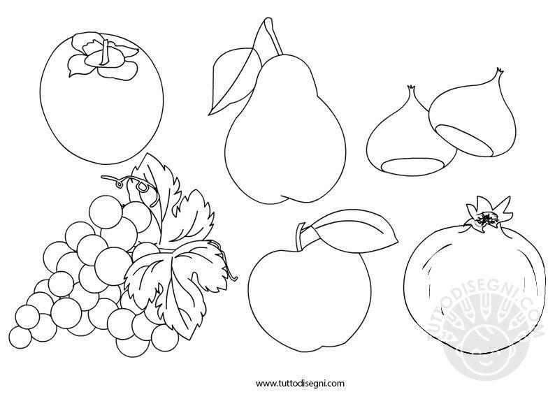 Risultati immagini per schede da colorare frutta secca d