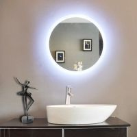Paris Mirror Round Bathroom Mirror with LED Backlight ...