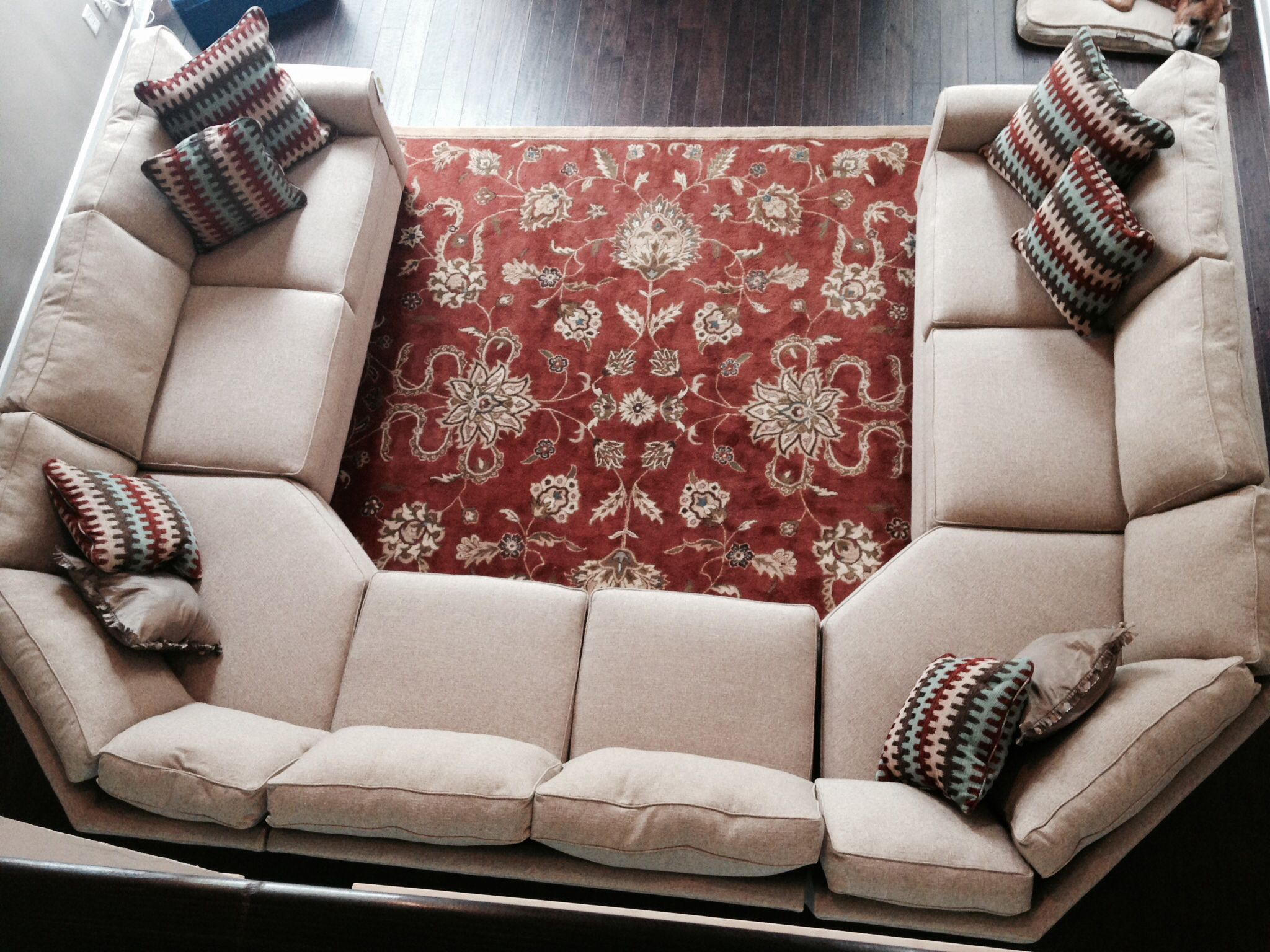 sectional sofa u shaped plummers oregon review our new inspired by the crate and barrel