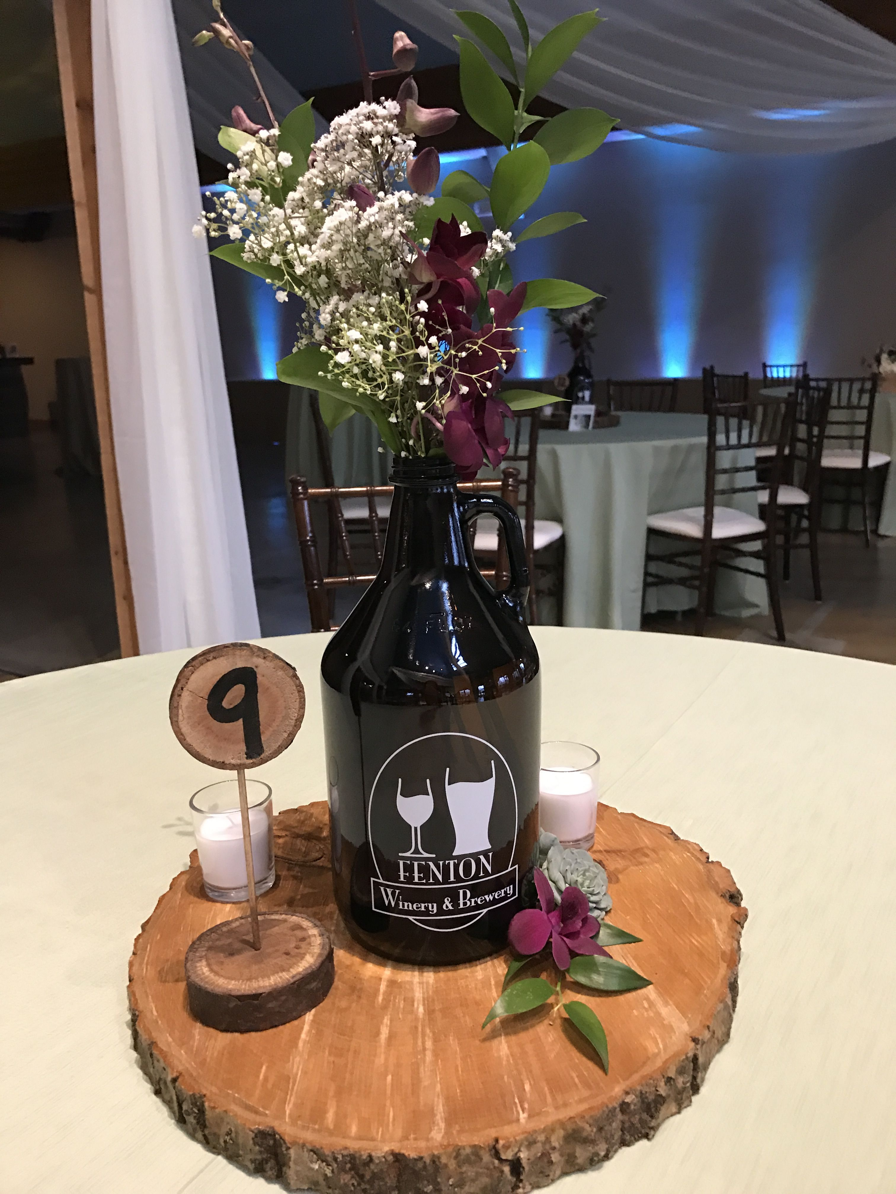 Coastal Themed Glass Bottle Table Centerpieces