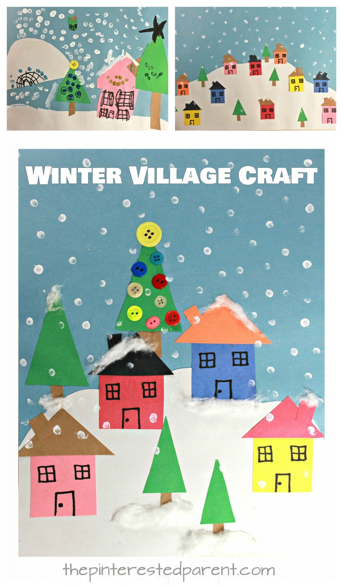 Create These Lovely Winter Christmas Villages With Simple