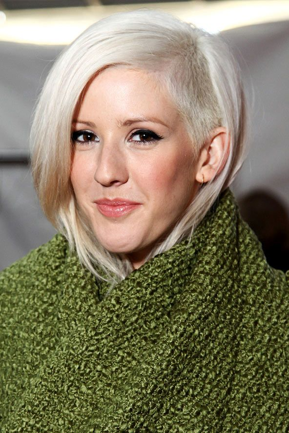 Ellie Goulding's Blonde Buzz Cut Celebrity Hair And Hairstyles