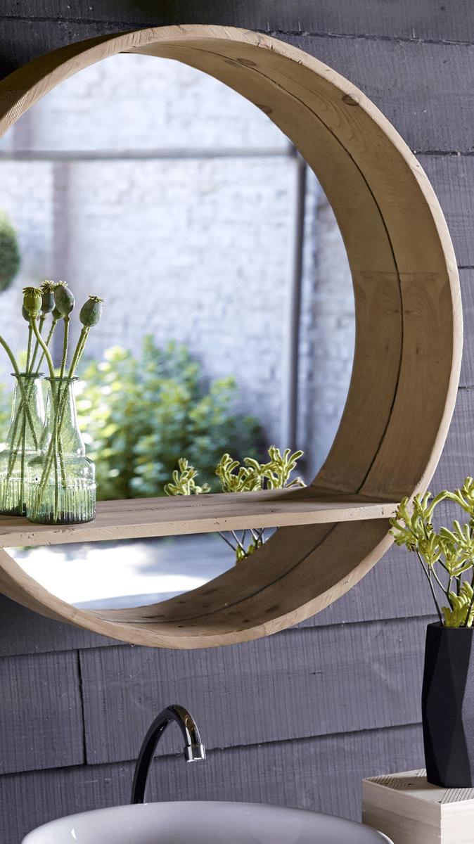 Moderner runder Spiegel mit Bullaugen Design  Zuhause Badezimmer  Pinterest  Runde spiegel