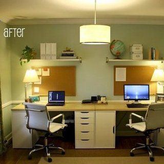 Attrayant Dining Room Is Transformed Into Home Office For Two Also Rh Pinterest
