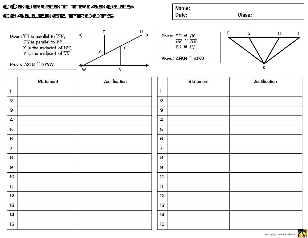 Congruent Triangles Proofs