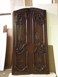 Wood carved front entrance door
