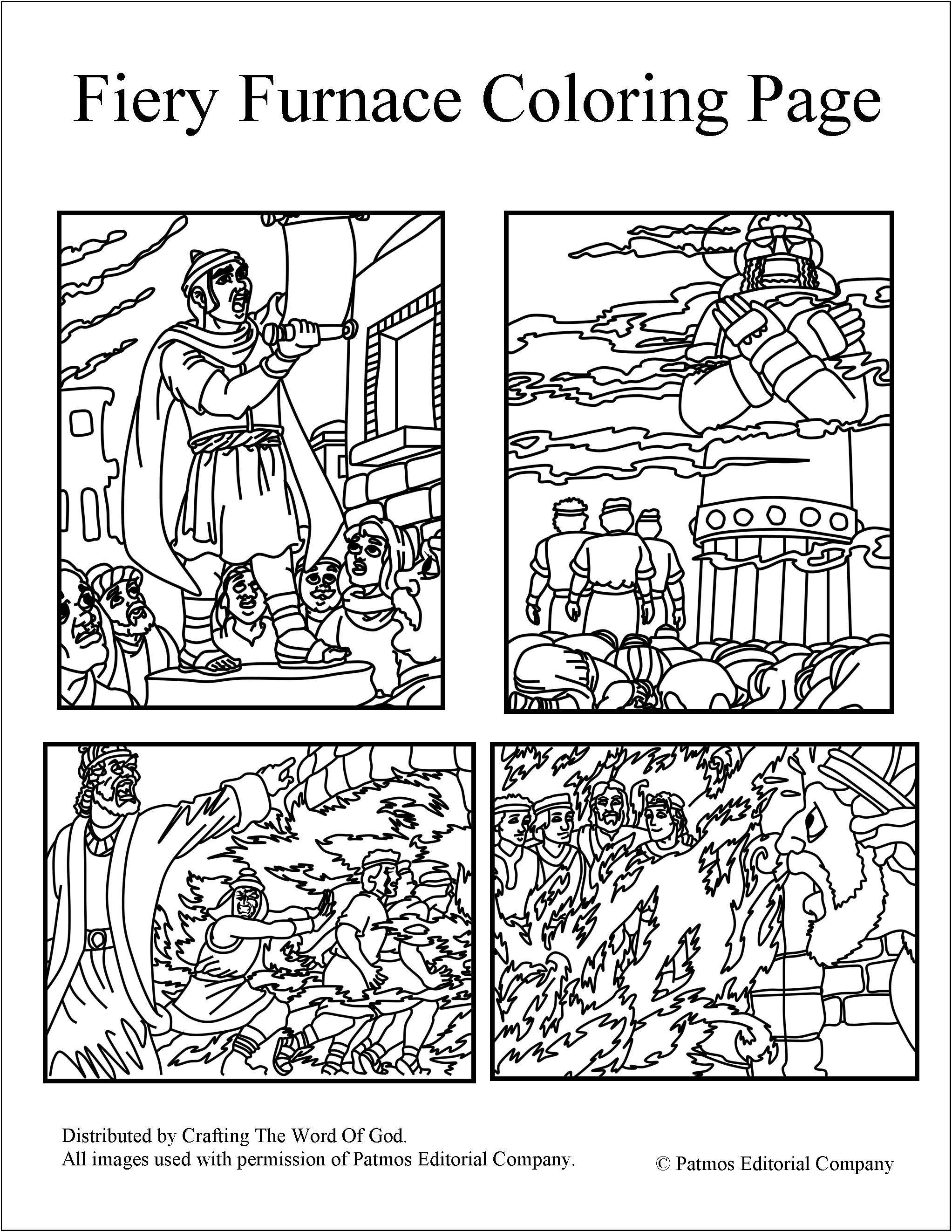 Fiery Furnace Coloring Pages Day 3