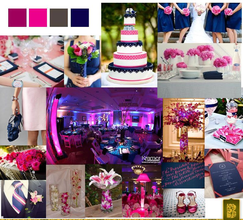 Navy Blue  Fuschia Wedding on Pinterest  Fuschia Wedding