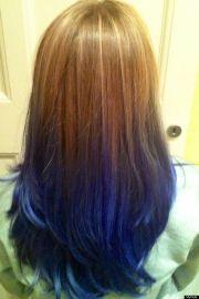 > hair dyed