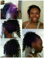 stuffed twist and side ponytail