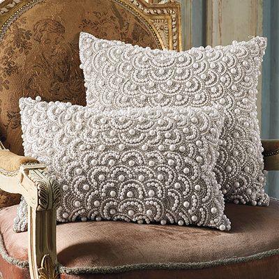 crochet christmas chair covers wayfair club and ottoman pearl decorative pillow. art deco   gatsby/coastal pinterest ...