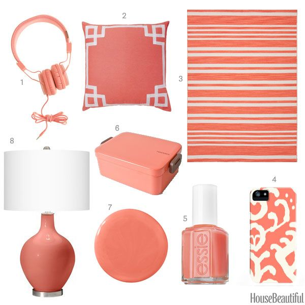 color of the week: soft coral pink | coral pink, house beautiful