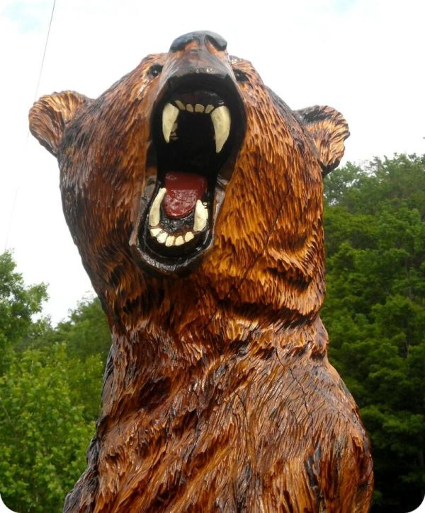 Chainsaw Wood Carved Bears Carving Artists