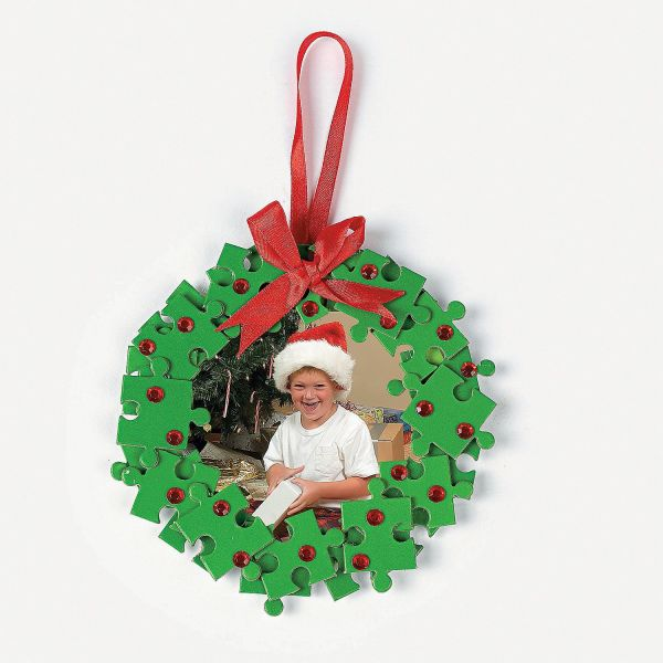 Puzzle Piece Wreath Frame Ornament Craft Kit
