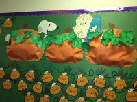 Charlie brown fall pumpkin bulletin board for the ...