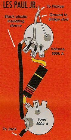gibson guitar wiring diagrams kicker kisl diagram les paul jr - google search | my guitars pinterest ...