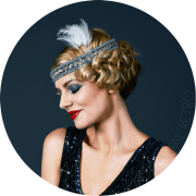 1920s headband with feather 20s