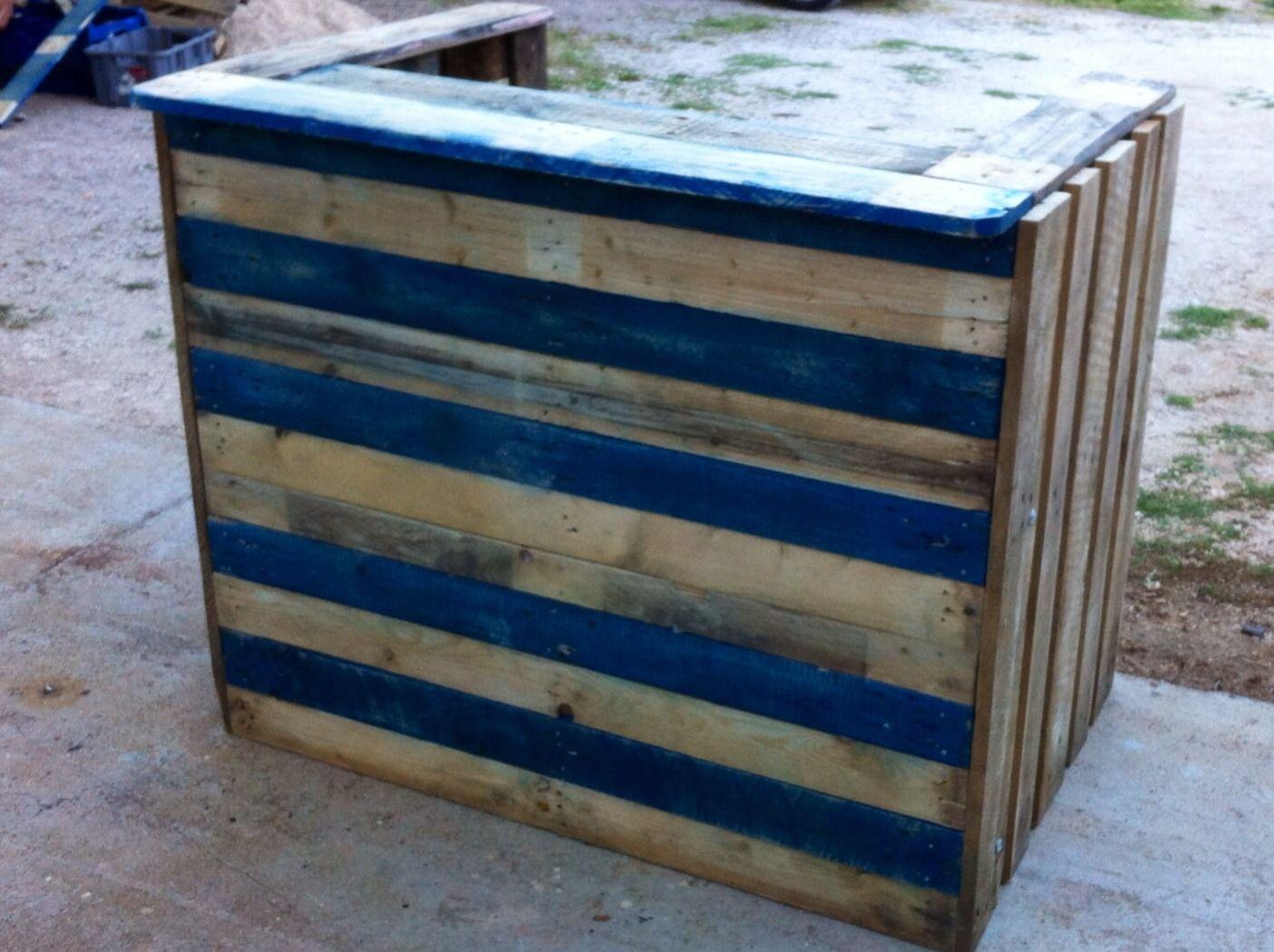 Comptoir De Bar En Palettes Recyclées Bruts  Meubles Et