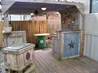outdoor kitchen designs made with wood | Ideas for ...