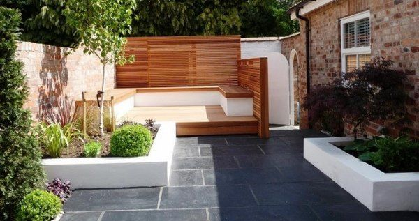 Modern Garden Design Ideas Pictures Sitting Area Privacy Fence