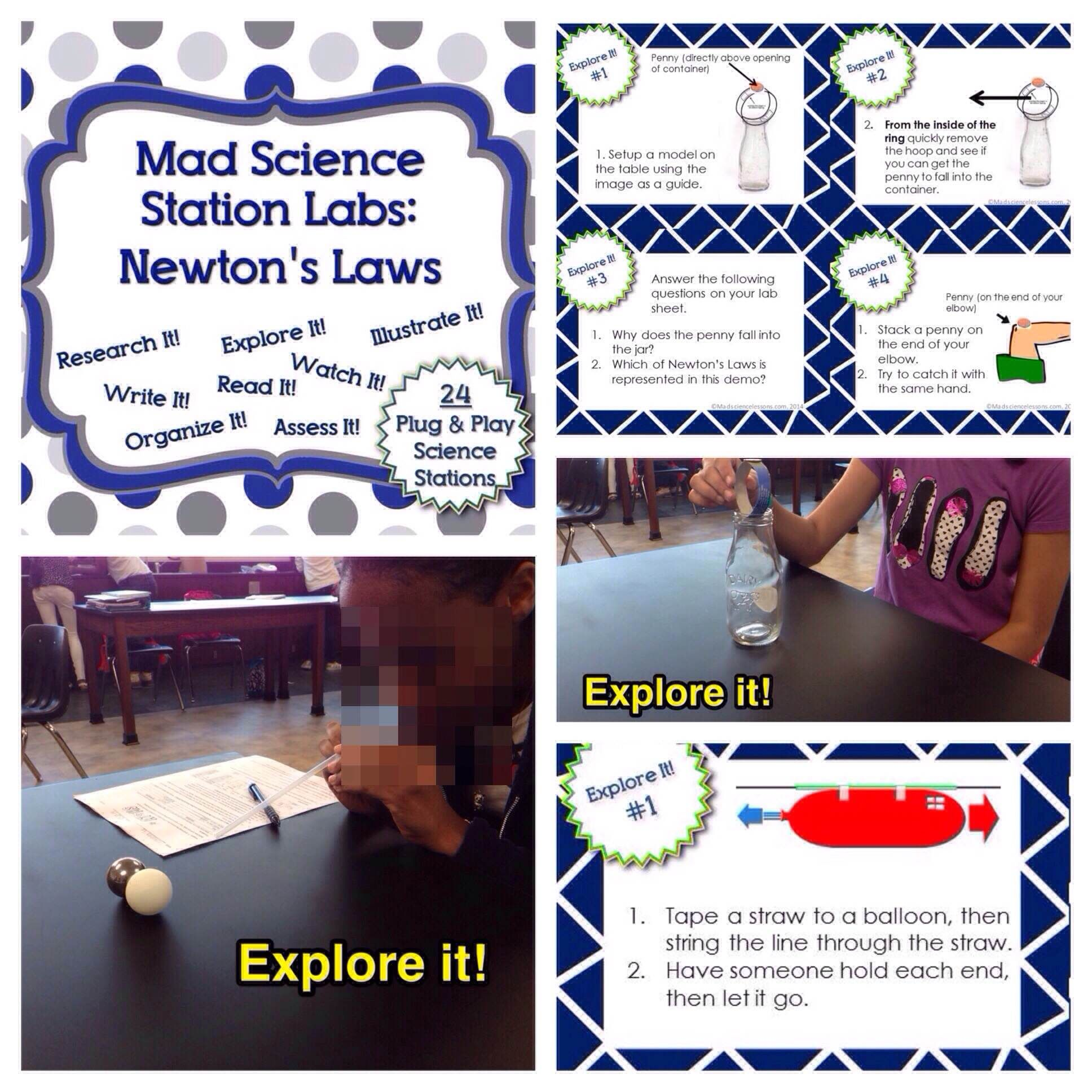 Newtons Laws Station Lab Allow Students To Lead Their Own
