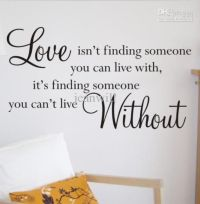 Buy cheap Love Without Wall Quote Decal Sticker Decor ...