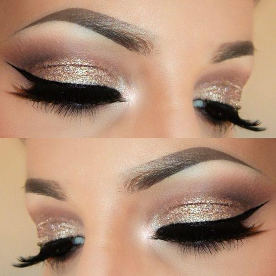 Silver Glitter Smokey Eye Makeup Tutorial Cartoonview