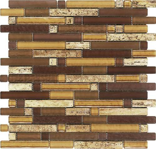 Epoch Tile Aligote Random Glass Mosaic Wall Tile at